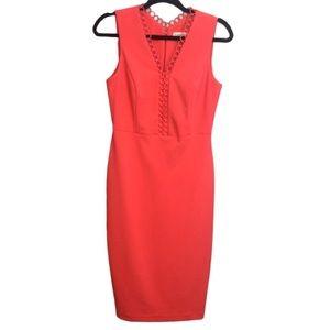 Calvin Klein Hot Pink Sleeveless Midi Dress Size 4